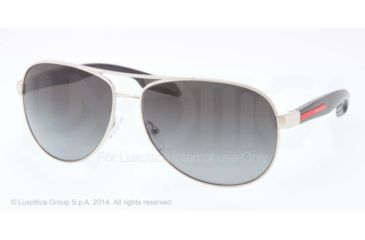 Prada BENBOW PS53PS Sunglasses 1BC5W1-62 - Steel Frame, Polar Grey Gradient Lenses