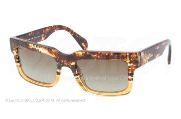 ae53c6b61da0 Prada CAST PR01QS Sunglasses DG61X1-52 - Spotted Brown On Yellow Frame