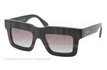 Prada CAST PR11QS Sunglasses 1AB0A7-48 - Black Frame, Grey Gradient Lenses