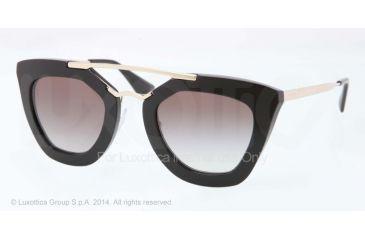 Prada CINEMA' PR09QS Single Vision Prescription Sunglasses PR09QS-1AB0A7-49 - Lens Diameter 49 mm, Frame Color Black