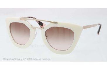 Prada CINEMA' PR09QS Single Vision Prescription Sunglasses PR09QS-7S30A6-49 - Lens Diameter 49 mm, Frame Color Ivory