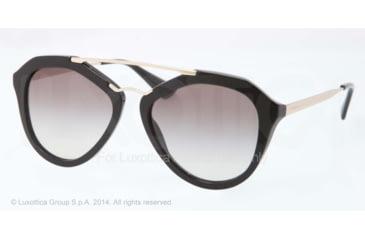 Prada CINEMA' PR12QS Single Vision Prescription Sunglasses PR12QS-1AB0A7-54 - Lens Diameter 54 mm, Frame Color Black