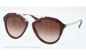 Prada CINEMA' PR12QS Single Vision Prescription Sunglasses PR12QS-2AU6S1-54 - Lens Diameter 54 mm, Frame Color Havana