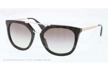 Prada CINEMA' PR13QS Single Vision Prescription Sunglasses PR13QS-1AB0A7-54 - Lens Diameter 54 mm, Frame Color Black