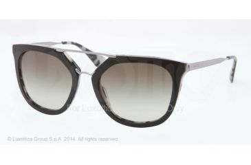 Prada CINEMA' PR13QS Single Vision Prescription Sunglasses PR13QS-ROK4M1-54 - Lens Diameter 54 mm, Frame Color Top Black/white Havana