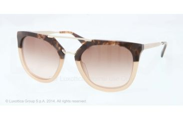 Prada CINEMA' PR13QS Single Vision Prescription Sunglasses PR13QS-ROZ0A6-54 - Lens Diameter 54 mm, Frame Color Brown Havana Grad Brown