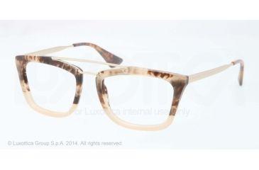 Prada CINEMA PR18QV Eyeglass Frames ROZ1O1-51 - Brown Havana Grad Brown Frame