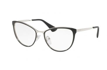 ec841357d434 Prada CINEMA PR55TV Single Vision Prescription Eyeglasses 1AB1O1-54 - Black Silver  Frame