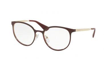 03ac641549168 Prada CINEMA PR53TV Progressive Prescription Eyeglasses UF61O1-52 -  Bordeaux pale Gold Frame