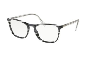 b3127174e0 Prada CONCEPTUAL PR08VV Prescription Eyeglasses 3181O1-55 - Striped Grey  White