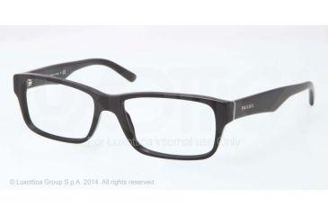 Prada Eyeglasses PR16MV with Lined Bifocal Rx Prescription Lenses 1BO1O1-53 - Matte Black Frame