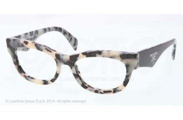 Prada HANDBAG LOGO PR13QV Bifocal Prescription Eyeglasses KAD1O1-52 - White Havana Frame