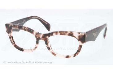 Prada HANDBAG LOGO PR13QV Bifocal Prescription Eyeglasses ROJ1O1-52 - Pink Havana Frame