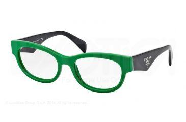Prada HANDBAG LOGO PR13QV Bifocal Prescription Eyeglasses SMP1O1-52 - Green Frame