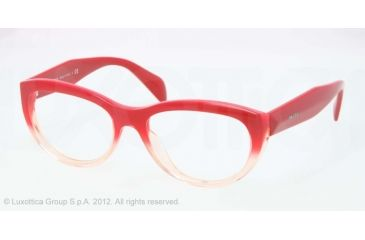 Prada JOURNAL PR01QV Bifocal Prescription Eyeglasses PDO1O1-52 - Red Gradient Pink Frame