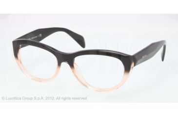 Prada JOURNAL PR01QV Bifocal Prescription Eyeglasses QFJ1O1-52 - Black Gradient Pink Frame