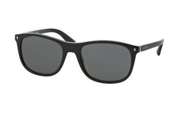 dcbd2c2479f Prada JOURNAL PR01RS Sunglasses 1AB1A1-57 - Black Frame