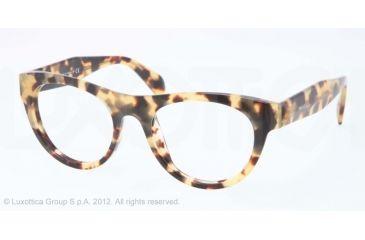 Prada JOURNAL PR02QV Single Vision Prescription Eyeglasses 7S01O1-50 - Medium Havana Frame