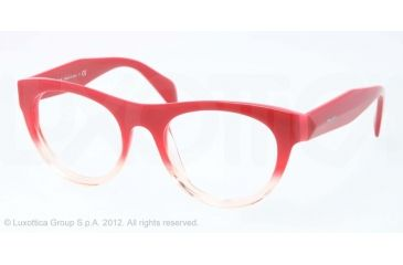 Prada JOURNAL PR02QV Single Vision Prescription Eyeglasses PDO1O1-50 - Red Gradient Frame