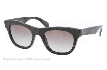 Prada JOURNAL PR04QS Bifocal Prescription Sunglasses PR04QS-1BO0A7-52 - Lens Diameter 52 mm, Frame Color Matte Black
