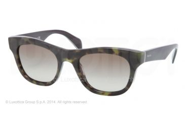 Prada JOURNAL PR04QS Bifocal Prescription Sunglasses PR04QS-LAB4M1-52 - Lens Diameter 52 mm, Frame Color Green Havana