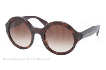 Prada JOURNAL PR06QS Sunglasses 2AU6S1-51 - Havana Frame, Brown Gradient Lenses