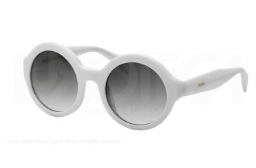 Prada JOURNAL PR06QS Sunglasses 7S30A7-51 - Ivory Frame, Grey Gradient Lenses