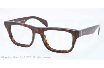 Prada JOURNAL PR09QV Bifocal Prescription Eyeglasses 2AU1O1-52 - Havana Frame