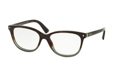5c4f6e2b82df Prada JOURNAL PR14RV Eyeglass Frames TKT1O1-52 - Gradient Grey Havana Frame