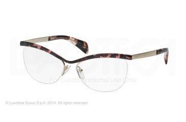 Prada JOURNAL PR64QV Eyeglass Frames ROJ1O1-54 - Pink Havana Frame