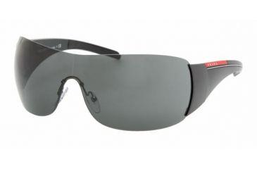Prada Linea Rosa PS 02LS Sunglasses Styles - Gloss Black Frame / Gray Lenses, 1AB1A1-0133