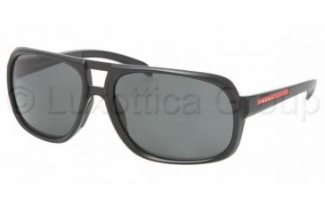 Prada Linea Rosa PS 06LS Sunglasses Styles - Gloss Black Frame / Gray Lenses, 1AB1A1-6317