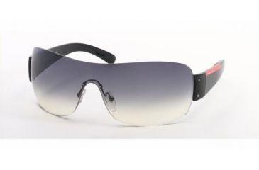 Prada Linea Rosa PS 07FS Sunglasses Styles - Gloss Black Frame / Gray Gradient Lenses, 1AB5D1-0133