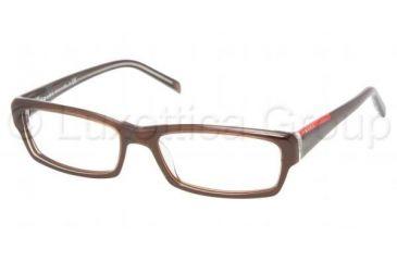 Prada Linea Rosa PS 09AV Eyeglasses Styles - Morish/Transparent Morish Frame w/Non-Rx 53 mm Diameter Lenses, ZX01O1-5316