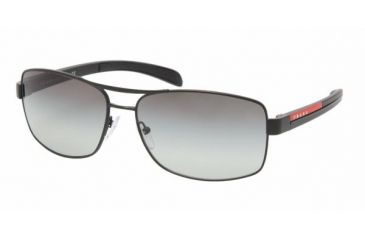 Prada Linea Rosa PS 50LS Sunglasses Styles - Demi-Shiny Black Frame / Gray Gradient Lenses, 1BO3M1-5915