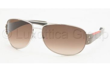 Prada Linea Rosa PS 52GS Sunglasses Styles - Silver Frame / Brown Gradient Lenses, 1BC6S1-6515