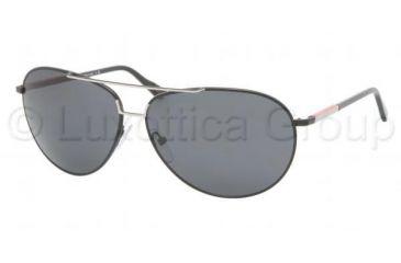 Prada Linea Rosa PS 52LS Sunglasses Styles - Matte Black+black Rubb. Frame / Gray Lenses, 1BO1A1-6513