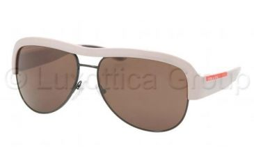 Prada Linea Rosa PS04LS Sunglasses Styles - Black Brown Frame w/  59 mm Diameter Lenses, GWZ8C1-5914