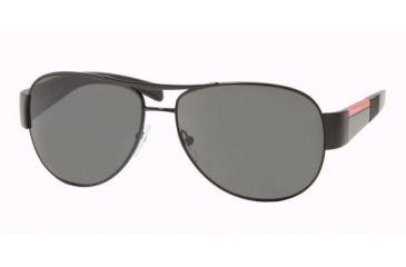 Prada Linea Rosa PS51HS Sunglasses Styles - Matte Black+black Rubb. Gray Frame w/  59 mm Diameter Lenses, 1BO1A1-5914