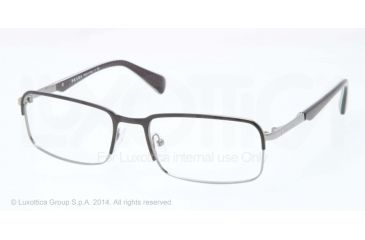 Prada MINIMAL CONCEPT PR61QV Eyeglass Frames 7AX1O1-56 - Top Black/Gunmetal Frame