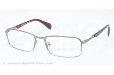 Prada MINIMAL CONCEPT PR61QV Eyeglass Frames LAI1O1-56 - Brushed Gunmetal Demi Shiny Frame