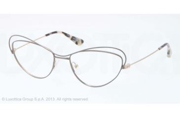 a542de15a69 Prada PARALLEL UNIVERSES PR56QV Single Vision Prescription Eyeglasses  QE51O1-53 - Beige brushed Pale