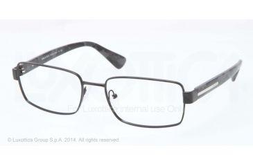aca4d08b1707 Prada PLAQUE PR60QV Progressive Prescription Eyeglasses 1BO1O1-54 - Matte Black  Frame
