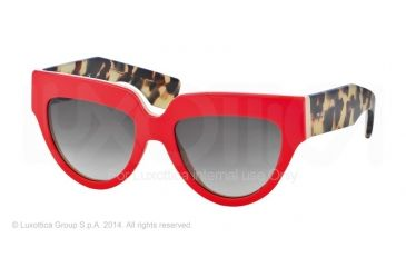 Prada POEME PR29PS Bifocal Prescription Sunglasses PR29PS-SL20A7-52 - Lens Diameter 52 mm, Frame Color Top Red/beige