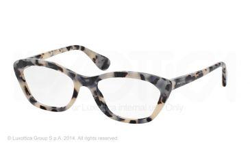 Prada PORTRAIT PR03QV Eyeglass Frames KAD1O1-52 - White Havana Frame
