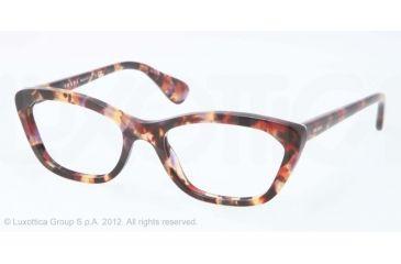Prada PORTRAIT PR03QV Eyeglass Frames PDN1O1-52 - Spotted Havana Pink Frame