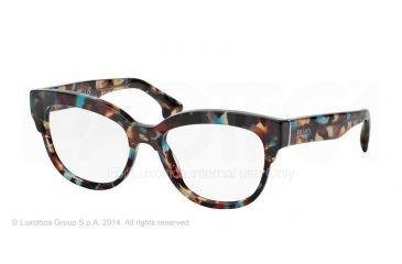Prada PORTRAIT PR21QV Eyeglass Frames NAG1O1-51 - Havana Spotted Blue Frame
