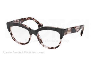 Prada PORTRAIT PR21QV Eyeglass Frames ROL1O1-51 - Top Brown/pink Havana Frame
