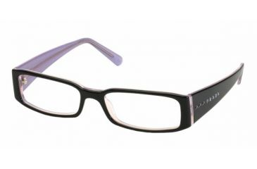 ed4a9c06ddc Prada PR10FV SV Prescription Eyeglasses - Black-Pink Demo Lens Frame   49  mm Prescription
