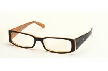 c20007fff3 Prada PR 10FV Eyeglasses Styles - Top Black On Orange Frame w Non-Rx